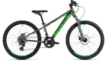 CUBE Kid 240 Disc grey´n´flashgreen 2018