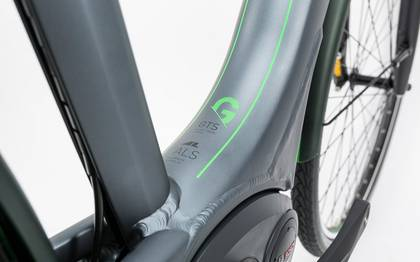 Detail image of Cube Travel Hybrid Pro RT 500 grey´n´flashgreen 2017 (2)