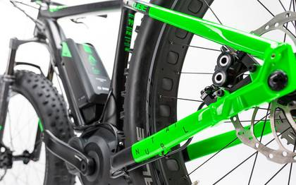 Detail image of Cube Nutrail Hybrid 500 black´n´green 2017 (4)