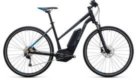 CUBE Cross Hybrid Pro 400 black´n´blue 2017