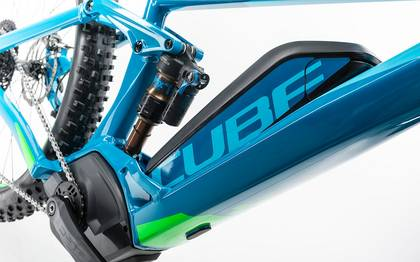 Detail image of Cube Stereo Hybrid 140 HPA SLT 500 27.5+ blue´n´green 2017 (10)