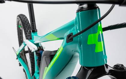 Detail image of Cube Sting WLS Hybrid 120 SL 500 27.5 mint´n´flashgreen 2017 (6)