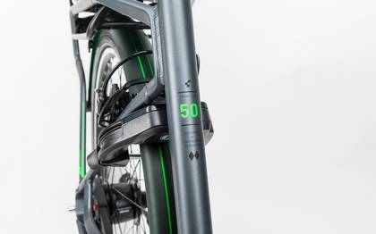 Detail image of Cube Travel Hybrid Pro RT 500 grey´n´flashgreen 2017 (6)