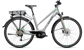 CUBE Touring Hybrid ONE 500 silver´n´flashgreen 2017