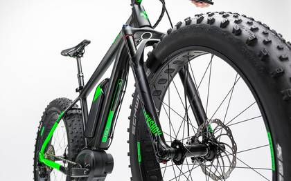 Detail image of Cube Nutrail Hybrid 500 black´n´green 2017 (8)