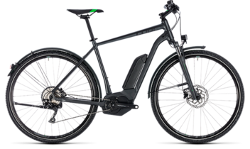 CUBE Cross Hybrid Pro Allroad 500 grey´n´flashgreen 2018
