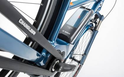 Detail image of Cube Travel Hybrid Pro 500 smoky blue´n´flashorange 2017 (14)