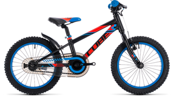 CUBE Kid 160 black´n´flashred´n´blue 2018