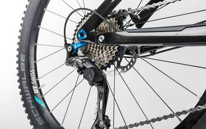 Detail image of Cube Stereo 160 C:62 Race 27.5 carbon´n´blue 2017 (13)