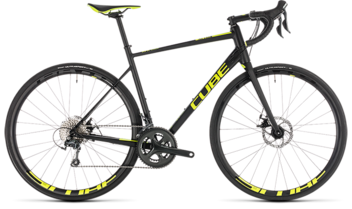 CUBE Attain Race Disc black´n´flashyellow 2019