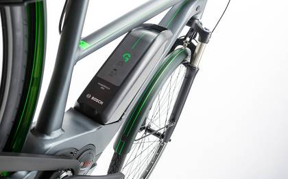 Detail image of Cube Travel Hybrid Pro 500 grey´n´flashgreen 2017 (7)