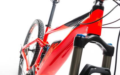 Detail image of Cube Stereo Hybrid 120 HPA Race 500 red´n´flashorange 2017 (7)