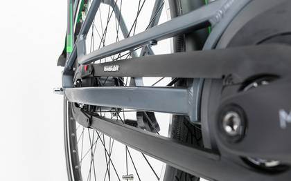 Detail image of Cube Travel Hybrid Pro RT 500 grey´n´flashgreen 2017 (14)