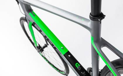 Detail image of Cube Attain GTC Pro Disc grey´n´flashgreen 2017 (2)